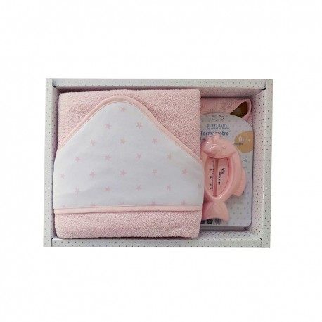 Set regalo bebé capa de baño + termómetro