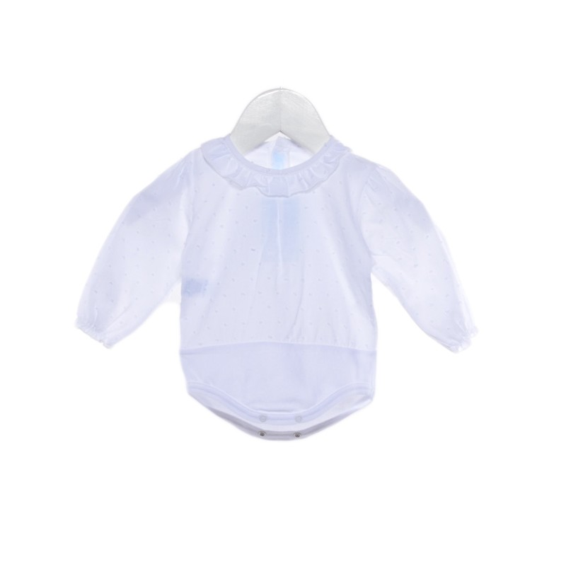 body de bebé con camisa de plumeti
