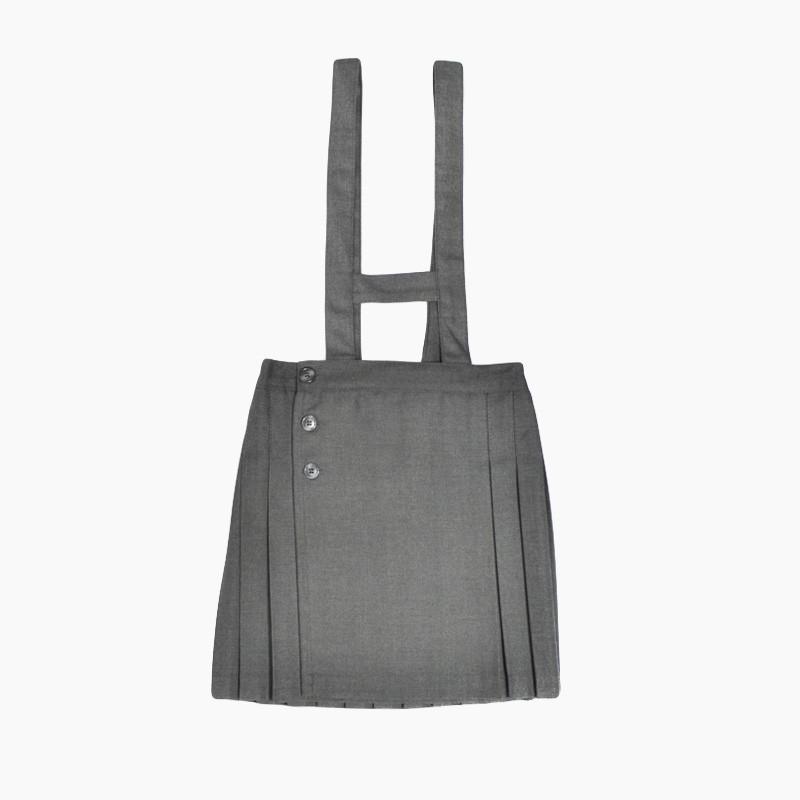 falda de colegio gris