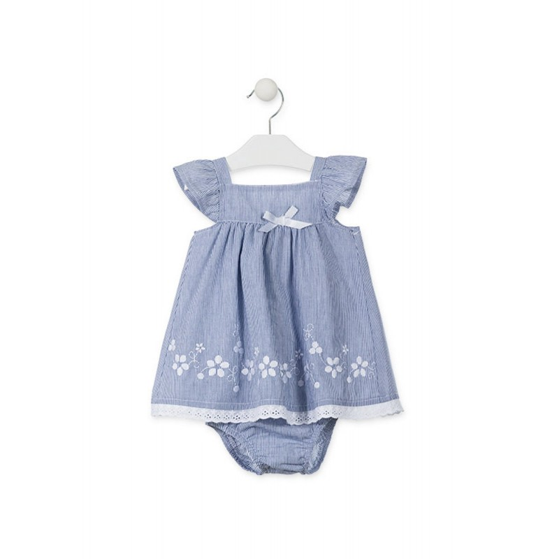 vestido bebé niña denim bordado